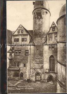 Rochsburg Schloss Bergfried mit Kapelle Kat. Lunzenau