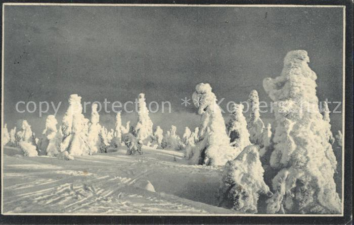 Sayda Winterpracht im Erzgebirge bei Sonnenuntergang Serie 105 Kat. Sayda