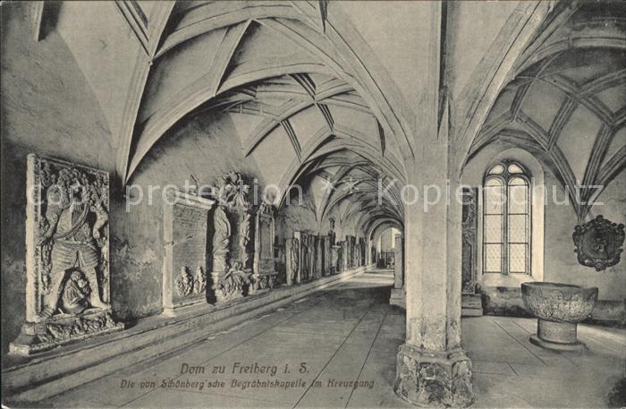 Freiberg Sachsen Dom Von Schoenbergsche Begraebniskapelle im Kreuzgang Kat. Freiberg
