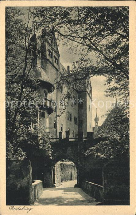 Rochsburg Schloss Rochsburg Eingang Kat. Lunzenau