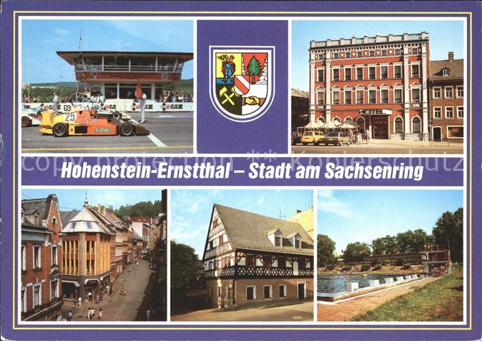 Hohenstein Ernstthal Sachsenring Start Ziel Hotel Sachsenring Weinkellerstr Postgut Stadtbad Kat. Hohenstein Ernstthal