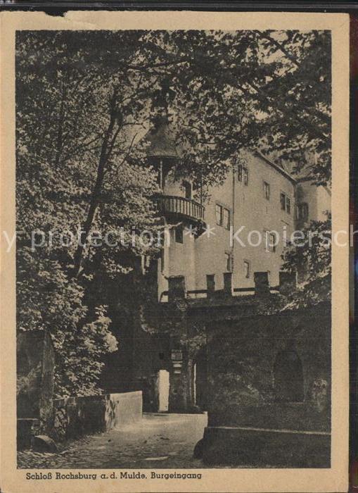 Rochsburg Schloss Rochsburg Burgeingang Kat. Lunzenau