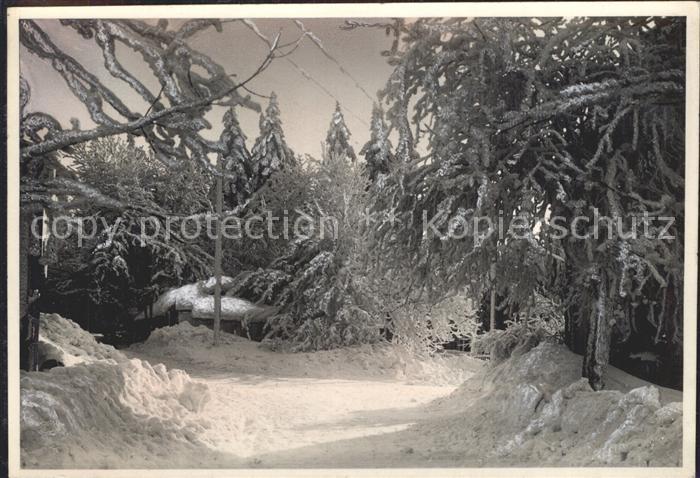 Oberwiesenthal Erzgebirge Winteridyll an der Finsterbaude Kat. Oberwiesenthal