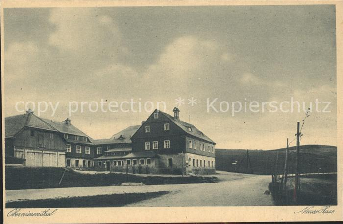 Oberwiesenthal Erzgebirge Neues Haus an der ehem