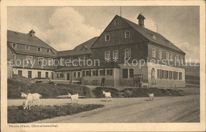 Oberwiesenthal Erzgebirge Neues Haus Kat. Oberwiesenthal