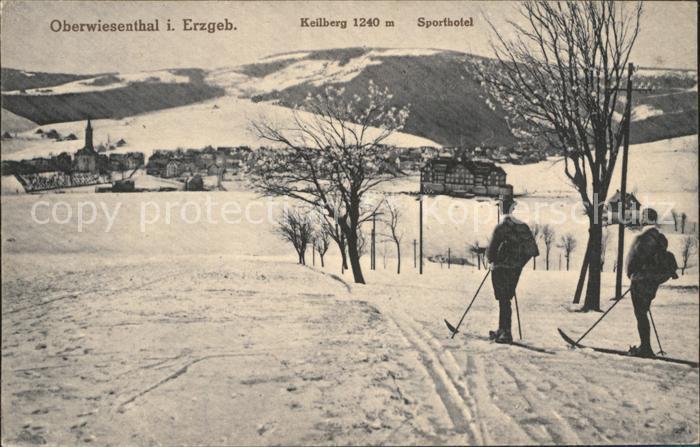 Oberwiesenthal Erzgebirge Keilberg Sporthotel Winter Kat. Oberwiesenthal