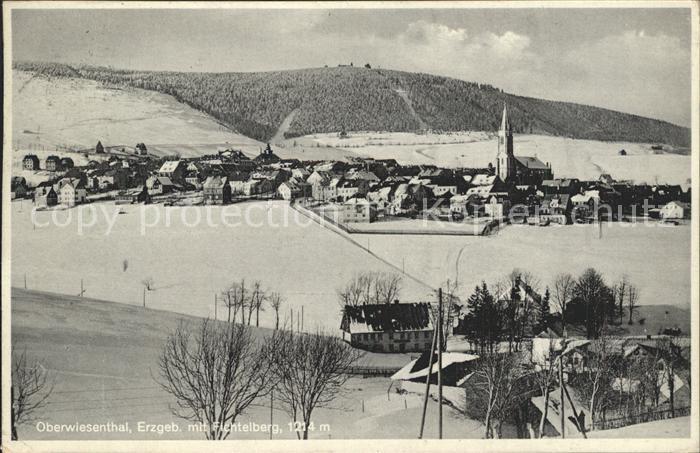 Oberwiesenthal Erzgebirge Fichtelberg Winter Kat. Oberwiesenthal