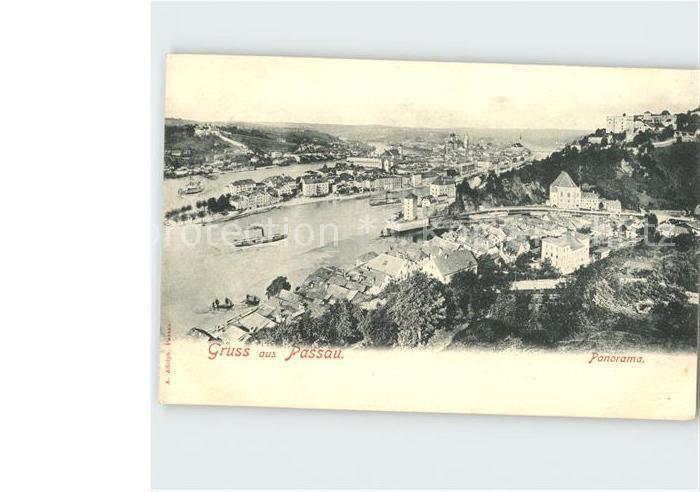 Regensburg Zusammenfluss von Ilz Donau und Inn Kat. Regensburg
