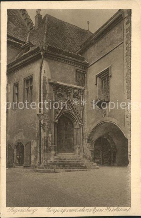 Regensburg Eingang zum ehemaligen Reichssaal / Regensburg /Regensburg LKR