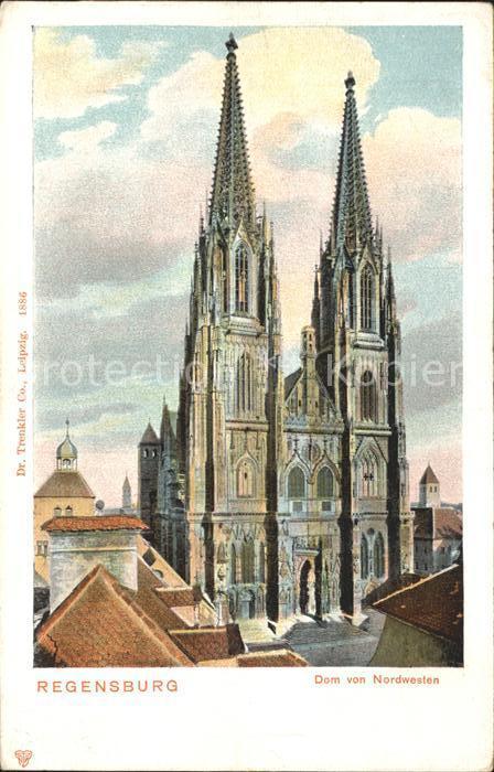 Regensburg Dom von Nordwesten / Regensburg /Regensburg LKR
