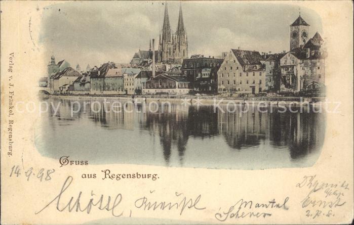 Regensburg Blick zum Dom St Peter / Regensburg /Regensburg LKR