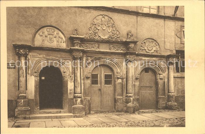Penig Portal des Rathauses Kat. Penig