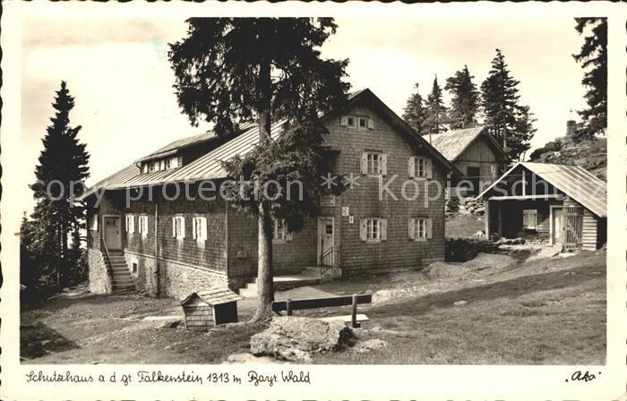 Falkenstein Ludwigsstadt Schutzhaus auf dem gr Falkenstein Kat. Ludwigsstadt
