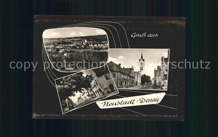 Neustadt Donau Total Strassenpartie Kirche Kat. Neustadt a.d.Donau