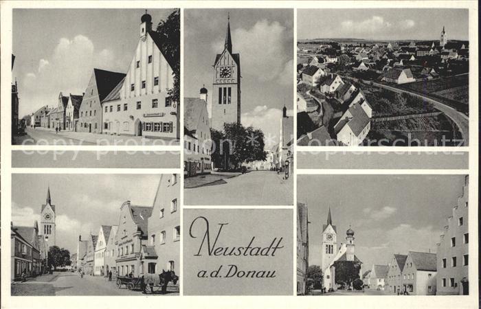 Neustadt Donau Strassenpartien Kirche Totalansicht Kat. Neustadt a.d.Donau