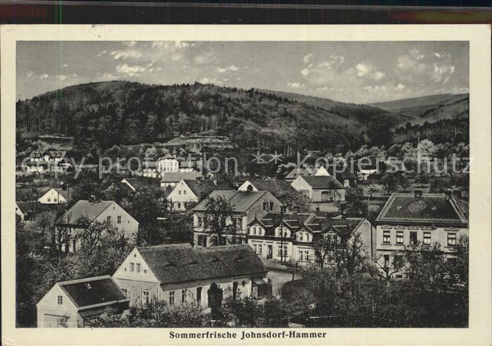 Jonsdorf Teilansicht Jonsdorf Hammer Kat. Kurort Jonsdorf