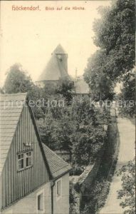 Hoeckendorf Glauchau Blick zur Kirche Kat. Glauchau