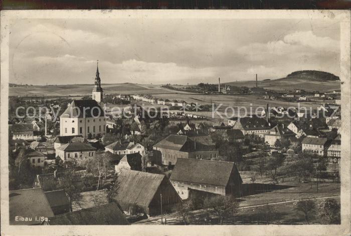Eibau Panorama mit Kirche Kat. Eibau