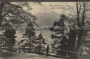 Oybin Blick vom Berg Oybin nach dem Hochwald Kat. Kurort Oybin