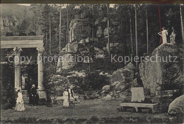 Oybin Waldtheater Sappho Trauerspiel von Franz Grillparzer Kat. Kurort Oybin