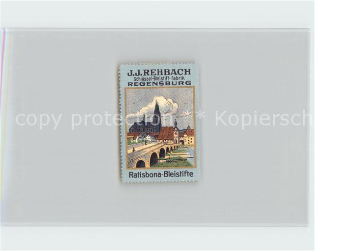 Regensburg Werbung Schluessel Bleistift Fabrik Ratisbona Kat. Regensburg