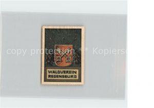 Regensburg Wappen Waldverein Regensburg Kat. Regensburg