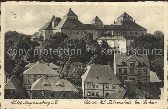 Augustusburg Teilansicht mit Schloss Kat. Augustusburg