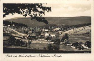 Schellerhau Blick auf den Ort Kat. Altenberg