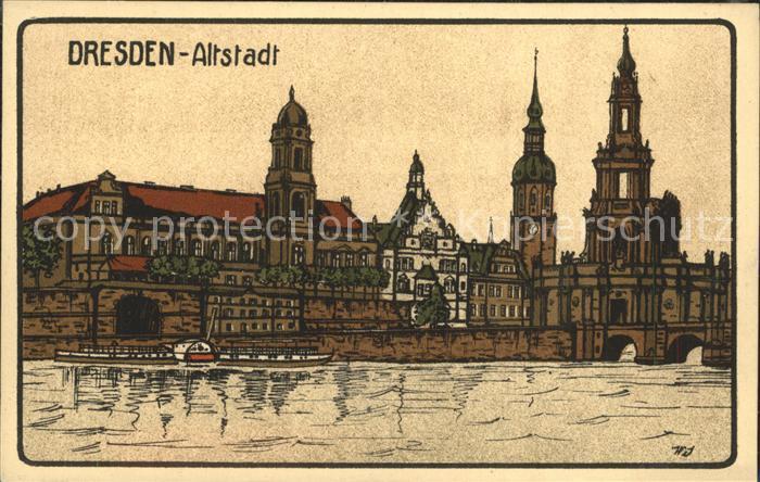 Dresden Altstadt Kat. Dresden Elbe