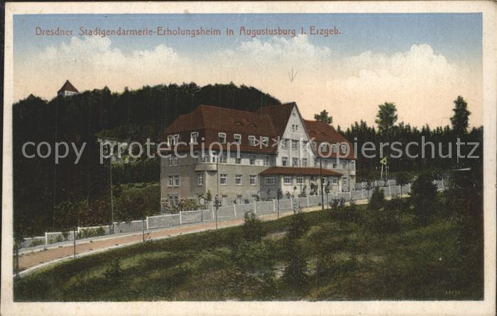 Augustusburg Dresdner Stadtgendarmerie  Erholungsheim Kat. Augustusburg