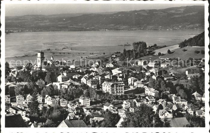 Heiden AR Ortsansicht mit Kirche Blick auf den Bodensee Kat. Heiden