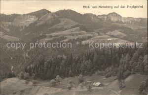 Menzberg Panorama Napfgebiet Kat. Menzberg