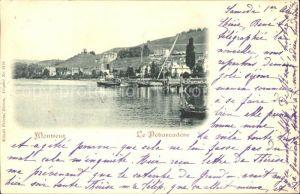 Montreux VD le Debarcadere Lac Leman Genfersee Kat. Montreux