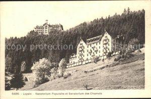 Leysin Sanatorium Populaire et Sanatorium des Chamois Kat. Leysin