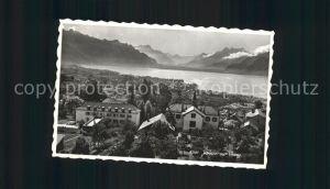 Jongny Panorama Genfersee Dents du Midi Alpen Kat. Jongny