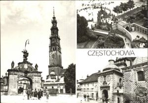 Czestochowa Schlesien Kosciol i klasztor na Jasnej Gorze Kat. Tschenstochau