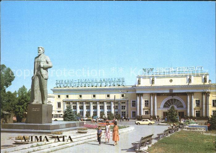 Almaty Railway station Alma Ata II Monument Statue Kat. Almaty