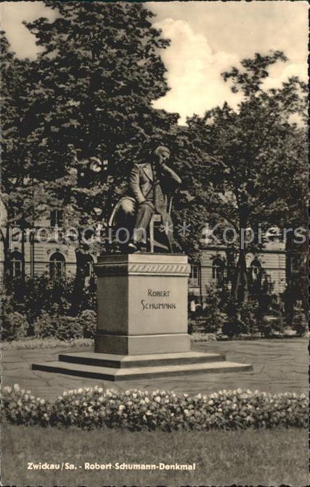 Zwickau Sachsen Robert Schumann Denkmal Kat. Zwickau