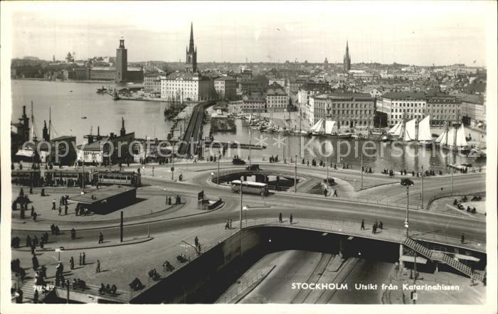Stockholm Utsikt fran Katarinahissen Kat. Stockholm