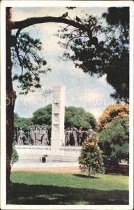 Montevideo Uruguay Detalle del Monumento a Jose E Rodo en el Parque del Mismo Nombre Kat. Montevideo
