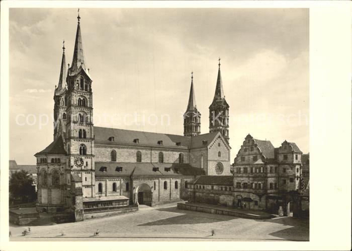 Bamberg Dom und Kanzleibau der Alten Hofhaltung Kat. Bamberg