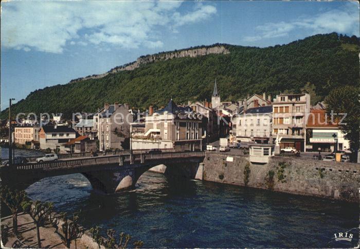 Bort les Orgues Bord de la Dordogne Pont Kat. Bort les Orgues