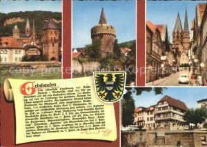 Gelnhausen Marienkirche Hexenturm Altstadt Fachwerkhaus Geschichte Wappen Kat. Gelnhausen