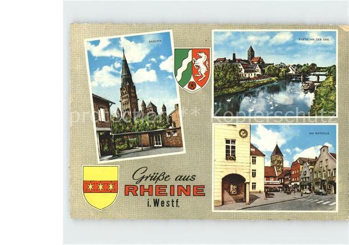 Rheine Basilika Emspartie Am Rathaus Kat. Rheine
