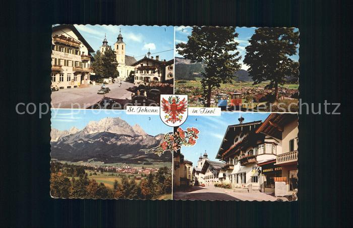 St Johann Tirol Hauptplatz Angereralm Bahn St. Johann Wilder Kaiser  Kat. St. Johann in Tirol