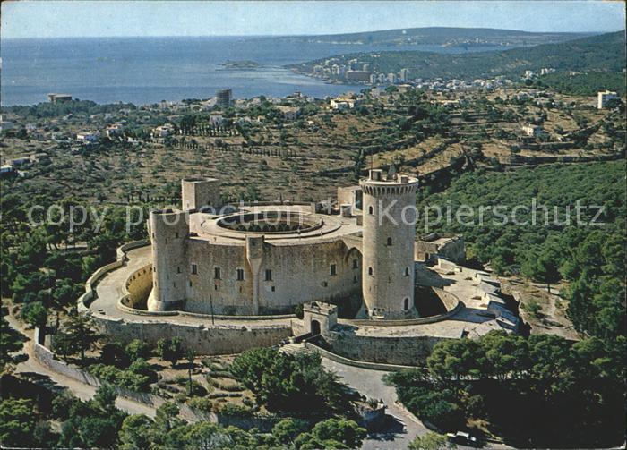Palma de Mallorca Fliegeraufnahme Castillo de Bellver Kat. Palma de Mallorca