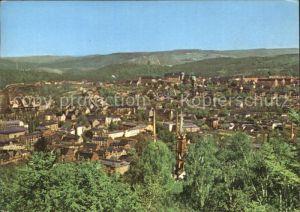 Aue Erzgebirge Panorama Blick vom Heidelberg Kat. Aue