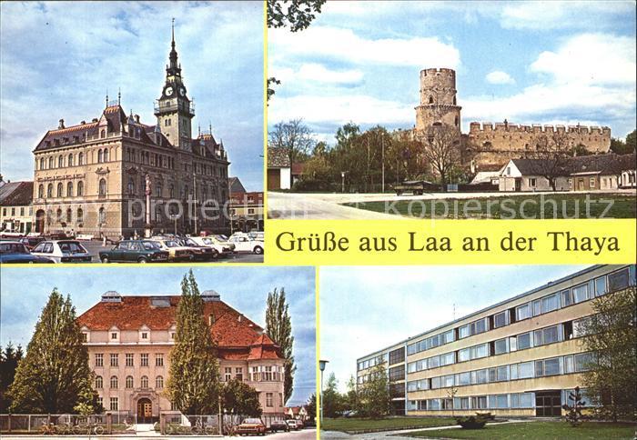 Laa Thaya Rathaus Wasserburg Gymnasium Berufsschule Kat. Laa an der Thaya