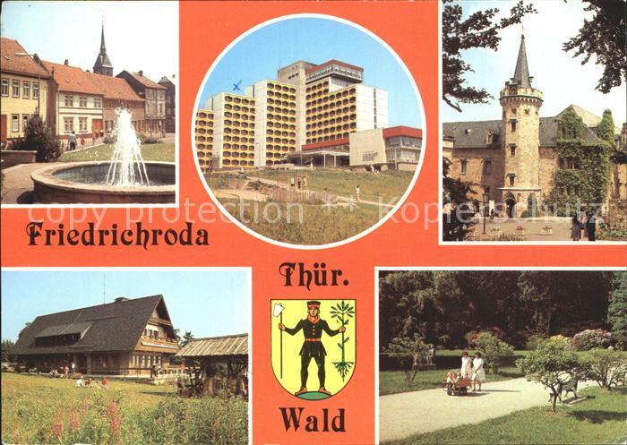 Friedrichroda Platz der Jungen Pioniere FDGB Erholungsheim Schloss Reinhardsbrunn Heuberghaus Rennsteig Puschkin Park Kat. Friedrichroda