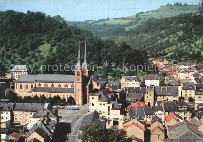 Diekirch Eglise vue aerienne Kat. Diekirch